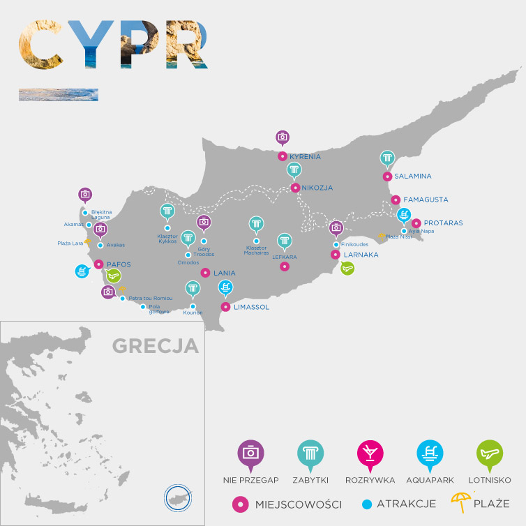 Mapa Cypr
