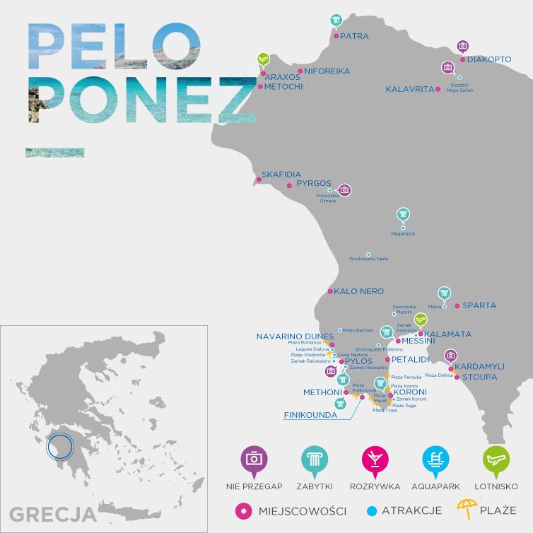 Mapa Peloponezu
