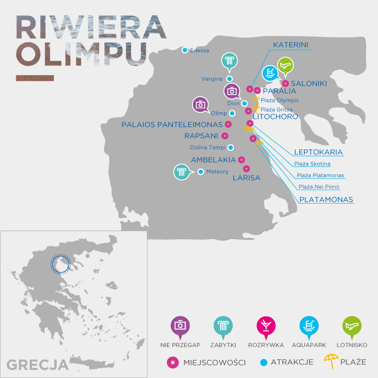 Mapa Riwiera Olimpu