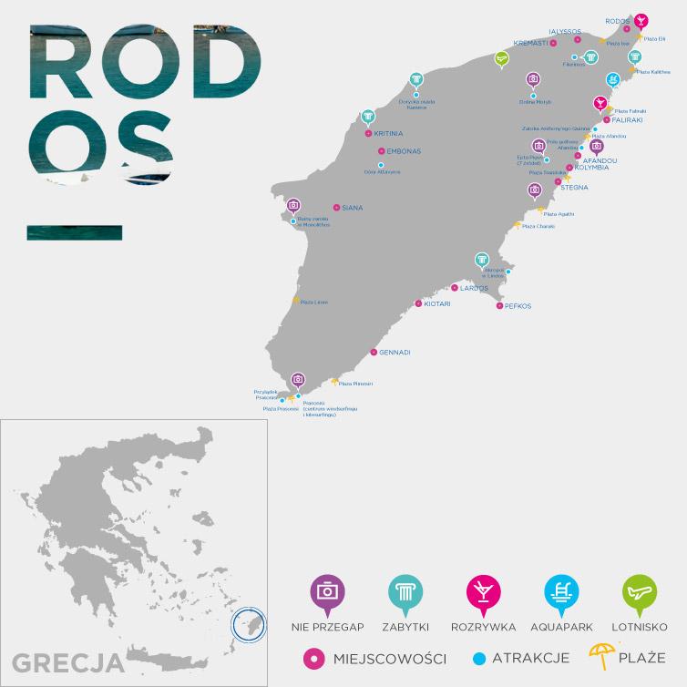 Mapa Rodos